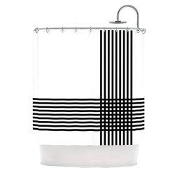 "Kess InHouse Trebam ""Krizanje"" Minimal Lines Shower Curtain, 69 by 70-Inch"