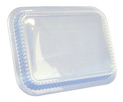 Durable Packaging P210500 Plastic Dome Lid for 3-Compartment Aluminum Pan (Pack of 500)