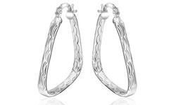 Sterling Silver Women's Triangle Earrings
