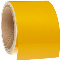 "Brady 78988 15' Length, 3"" Width, B-957 Sheeting, Yellow Color Reflective Stripes, Checks And Color Tape"