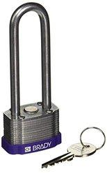 Brady Purple Key Retaining Steel Padlock - Purple