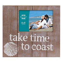 Prinz Take Time to Coast Natural Solid Wood Frame, 4 by 6-Inch