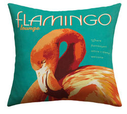 "Deny Designs Valentina Ramos Flemingo Outdoor Throw Pillow - Size: 20""x20"""