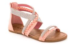 Rasolli Women's Braided Strap Fashion Sandals - Blush - Size: 6.5