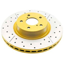 DBA DBA102X Street Series Cross Drilled & Slotted Front Disc Brake Rotor