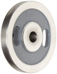 "Boston Gear G1207 Webbed Grooved Pulley, 0.625"" Bore, Fits Round Belts 0.375"" or Smaller, 0.500"" Face, 1.625"" Hub Diameter, 5.000"" Outside Diameter, Iron"