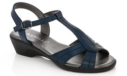 Rasolli Women's Wedge Sandals - Navy - Size: 5.5
