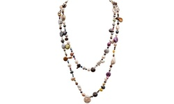 Women's Freshwater Multi Color Pearl & Coin Necklace