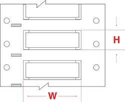 "Brady PS-500-2-WT-SC PermaSleeve Wire Marking Sleeves - 1"" Core, 0.851"" Height, 2.00"" Width, Polyolefin (B-342) White (Roll of 250)"