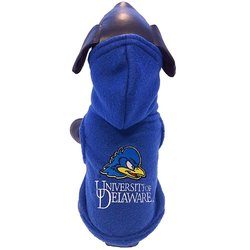 All Star NCAA Polar Fleece Hooded Dog Jacket - Blue - Size: Small