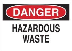 "Brady 41318 Aluminum Chemical & Hazardous Materials Sign, 10"" X 14"", Legend ""Hazardous Waste"""