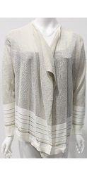 Calvin Klein Lurex Stripe Cardigan - Sparkle - Size: Large