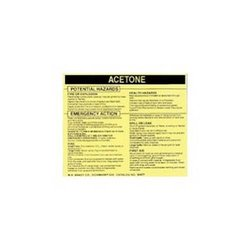 Brady 93477, Hazardous Material Label (Pack of 10 pcs)