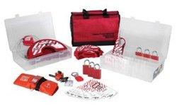 Master Lock Portable Valve Lockout Assortment and Safety Organizer, Includes 6 Aluminum Padlocks