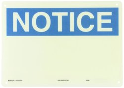 "Brady 47014 10"" Height, 14"" Width, B-120 Premium Fiberglass, Blue On White Color Blank Sign - Preprinted Headers"