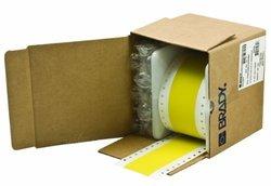 Brady RCM-637-1.5-YL Self-Extinguishing Tedlar Bradywrap Dot Matrix Printable Labels , Yellow (1 Roll, 1 Roll per Package)