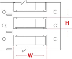 "Brady 2HX-500-2-WT-3 PermaSleeve Wire Marking Sleeves, 0.829"" Height, 0.667"" Width, Polyolefin (B-7642) White (Roll of 1500)"