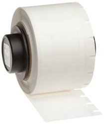 "Brady PTL-15-423 TLS 2200 And TLS PC Link 0.275"" Height, 1"" Width, B-423 Polyester, White Color Thermal Transfer Portable Printer BradyBondz Label (750 Per Roll)"