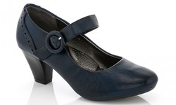 Rasolli Mary-Jane Women's Comfort Career Dress Shoes - Navy - Size: 8.5