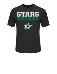 Majestic Athletic Men's NHL Dallas Stars From T-Shirt - Black - 2XL