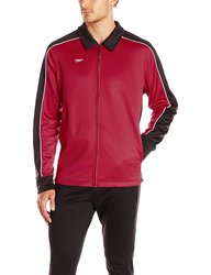 Speedo Men's Streamline Warm Up Jacket - Black/Maroon - X-Large