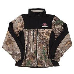 NFL San Francisco 49Ers Women's Colorblocked Softshell Jacket - Camo - XL