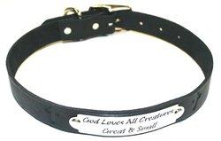 "Auburn Leather 1"" x 24"" Pet Ark Survivor Series Collar - Black"