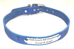 "Auburn Leather 1"" X 26"" Pet Ark Survivor Series Collar - Royal Blue"