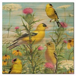 WGI-GALLERY 1212 Golden Glories Wooden Wall Art