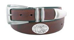 NCAA Men's Southern Mississippi Golden Eagles Leather Belt - Brown - Sz:40