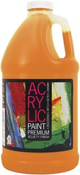 Pro Art 64-Ounce Student Acrylic Bottle - Brilliant Orange