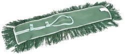 "Wilen 24"" x 5"" Permatwist Polyester Back Dust Mop - Green - Case of 12"
