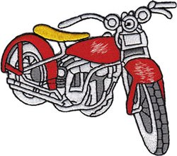 Application Vintage Red Bike Patch for Jeans/Jackets/Vests/Hats/Backpacks