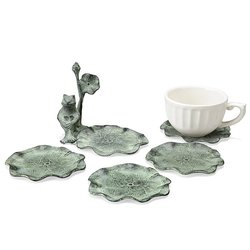 SPI Home Frog & Lilypads Coaster - Pack of 4
