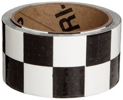 Brady B-950 Vinyl Black & White Color Warning Stripe & Check Tape