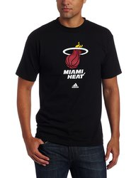 adidas Men's NBA Miami Heat Short Sleeve T-Shirt - Black - Size: Small