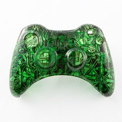 GamerModz Clear Green Circuit Board Custom Controller Shell for Xbox 360
