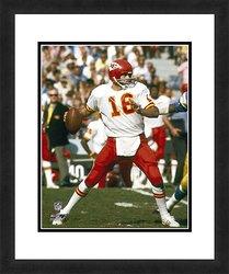 "Photo File 18x22"" NFL Kansas City Chiefs Len Dawson Framed Photograph"