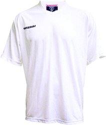 Vizari 10113 Geneva Men's SS Polyester Soccer Jersey - White - Adult Small