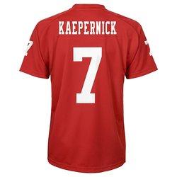 NFL Boys 4-7 San Francisco 49ers Kapernick Performance Tee - Crimson - M