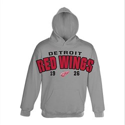 NHL Detroit Red Wings Gold Plated Fleece - Heather Grey - Size: Small