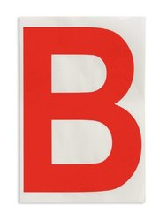 "Brady 121699 ToughStripe Die-Cut Polyester Tape, Red Letter ""B""(Pack of 20)"