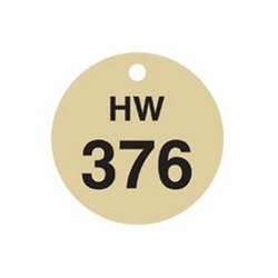Brady 23427, Stamped Brass Valve Tags (Pack of 10 pcs)
