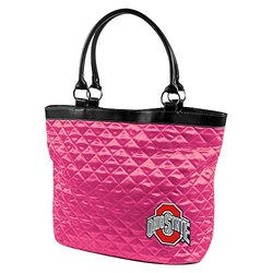 NCAA Ohio State Pink Quilted Tote