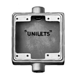 Appleton 34 Threaded Unilet 2 Gang cast Device Box