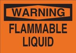 "Brady 69583 Premium Fiberglass Fire Sign, 10"" X 14"", Legend ""Flammable Liquid"""