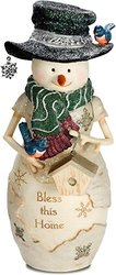 Pavilion Gift Company 81124 Bless This Home Snowman Figurine, 7 1/2""