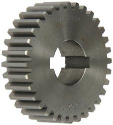 "Boston Gear GF32B Plain Change Gear, 14.5 Degree Pressure Angle, 10 Pitch, 1.250"" Bore, 32 Teeth, Cast Iron"