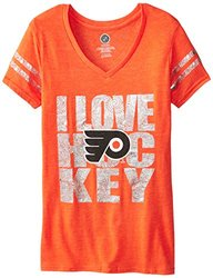 NHL Philadelphia Flyers Girl's Love the Puck S/S Tee - Orange - Size: L