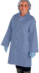 UltraSource 460016-L Smock, 3 Pockets, Long Sleeve, Large, Navy